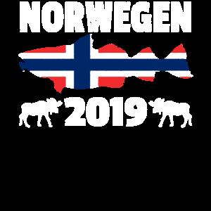 Norwegen 2019 Dorsch Angeln T-Shirt Angelurlaub