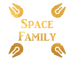 Space Family on Gold Family and Friend Shirts
