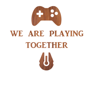 We are Playing Together on Wood Family and Friends