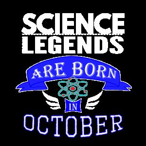 Wissenschaftslegenden werden im Oktober geboren