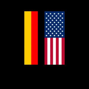 USA Deutschland Flagge Vintage