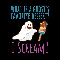 Halloween Geist Wortspiel I Scream Eis Eiscreme