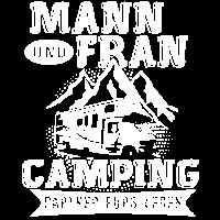 Mann und Frau Camping Partner