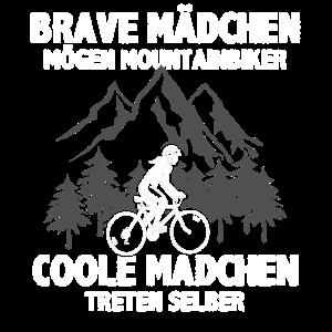 Brave Mädchen mögen Mountainbiker