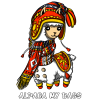 Alpaka meine Taschen Nettes Lama-Tier
