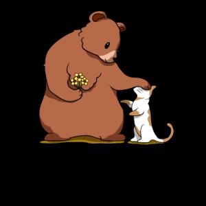 Bär Braunbär Grizzlybär Katze Hauskatze Geschenk