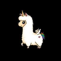 Majestätisch ungewöhnlich Süßes Llamacorn