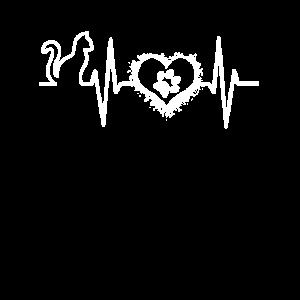 Herz Pfote Herzschlag Katze Geschenk Herzfrequenz