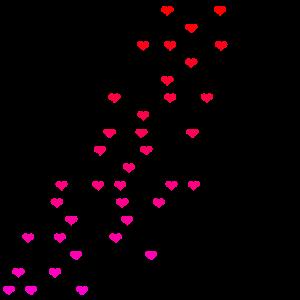 Herzen rot rosa Geschenkidee Geschenk Idee