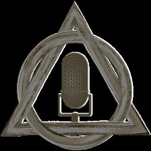 Retro Mikrofon in Magischem Dreieck