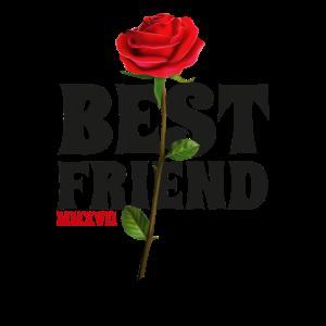 Beste Freundin Freundinnen Rose BFF