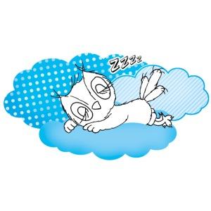 schlafende Eule Zzzz