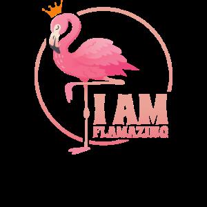 Pink Flamingo Shirt Topisch Urlaub Sommer Bier