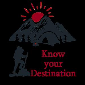 Destination Wandern Sonne Berg Geschenkidee
