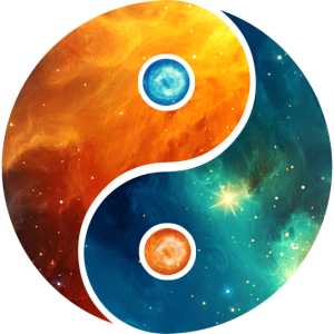 Yin Yang Elemente, Space, Kosmos, Universum, Stern