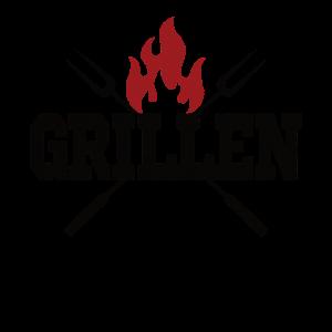 Grillen Grillzange Feuer Grill Bbq Shirt used look