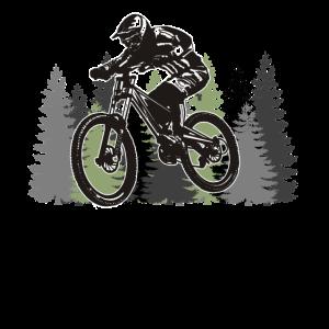 Mountainbike Wald Downhill