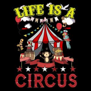 Das Leben ist eine Zirkus-lustige Karnevals-Party