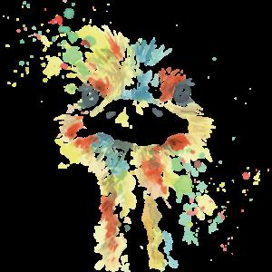 Gemalter Strauß farbenfroh