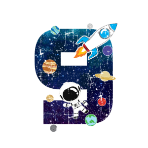 Astronaut 9 Geburtstag