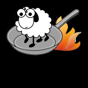 Schaf anbraten - Kochschürze - Kochen