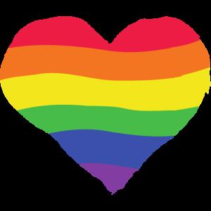 Pride Herz - Regenbogen, Farbe, bunt, lgbtq+ Liebe