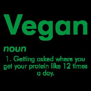 Vegan Veganer Protein Fleischfrei Spruch Geschenk