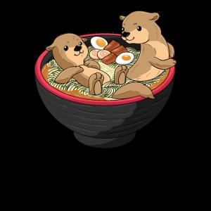 Süße Otter Geschenk Ramen Nudelsuppe Kawaii Marder