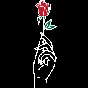Rose Herz Blumen Geschenk Liebe Frauen Mädchen