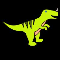 Süßer T Rex Tyrannosaurus Comic Geschenk