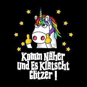 Fuck You Einhorn Einhörner Mittelfinger Geschenk