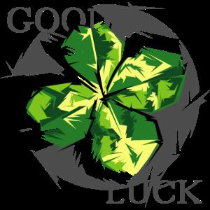 good luck blatt leaf kleeblatt geschenk