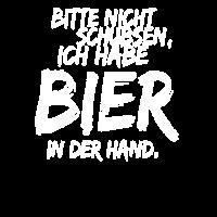 Bitte nicht schubsen Ich habe Bier in der Hand