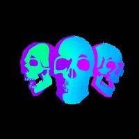 80s Skulls