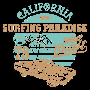 California surfing paradise Reise Spruch Geschenk