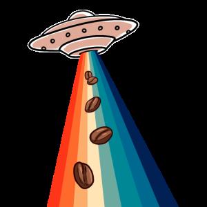 Alien Retro Kaffee Barista Regenbogen Espresso