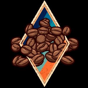 Retro Kaffee Bohnen Barista Espresso Regenbogen
