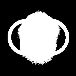Abstraktes Symbol von zwei vereinigten Kreisen