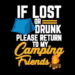 Camping Betrinken Trinken - Bitte zurück zum Zelt