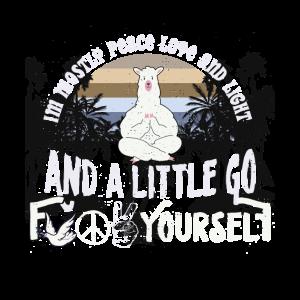 PEACE Love LIGHT Lustiges Yogis Llamaste