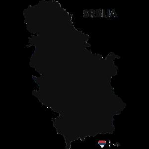 Srbija serbia serbien drmaps black h