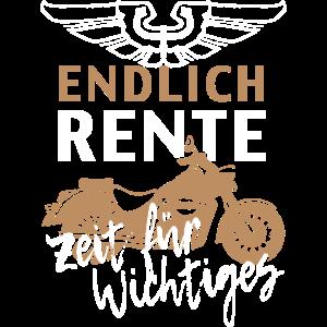 Rentner Rente Ruhestand Motorrad Geschenk Biker