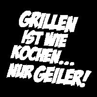 Grillmeister Grill grillen Geschenk Spruch Kochen