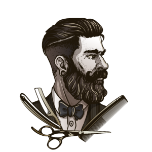 Barbier Herren Friseur Bart Vollbart Anzug Fliege