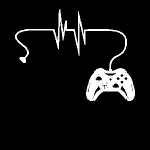 Gamer Herzschlag Geschenk