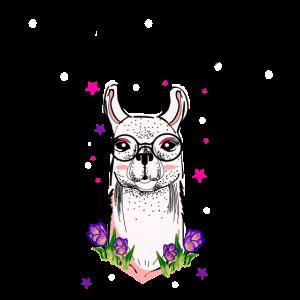 Llama Drama Lustige Lamas Nerd Brille Hipster
