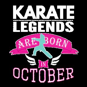 Karate-Legenden werden im Oktober Mädchen geboren