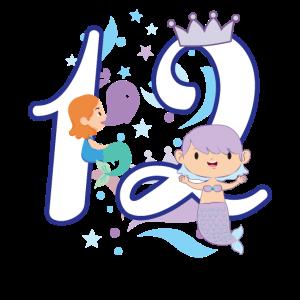 Ich bin 12 Meerjungfrau Geburtstag T-Shirt für Mäd