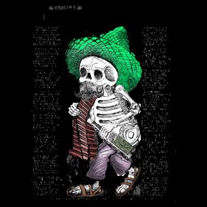 Cooles Fashion Design lustig und originell Skelett