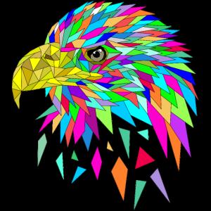 Seeadler Adler Low poly Polygone farbig Sommer